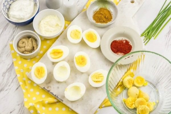Curried Deviled Eggs Recipe. Tired of the same old deviled eggs? This easy to make recipe spices up your basic humdrum deviled eggs for an interesting and exotic take on the old standard. This flavor-packed curried deviled eggs recipe is simply fabulous!