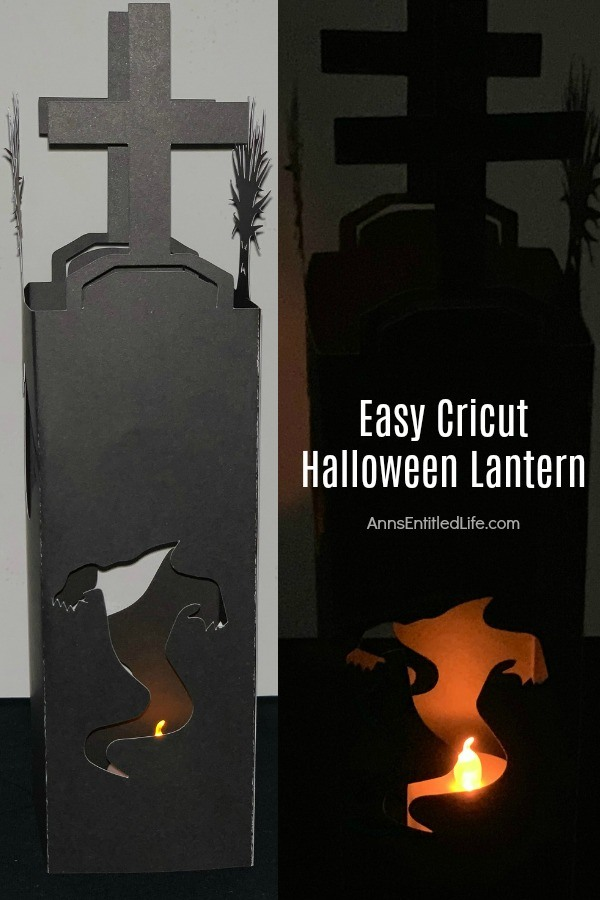 black paper ghost lantern with tealight flame-less candle
