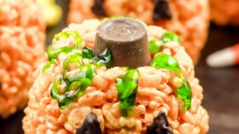 Jack O'Lantern Rice Crispy Treats Recipe