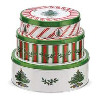 Spode Christmas Tree Pimpernel Christmas Tree Nesting Cake Tins, Set of 3