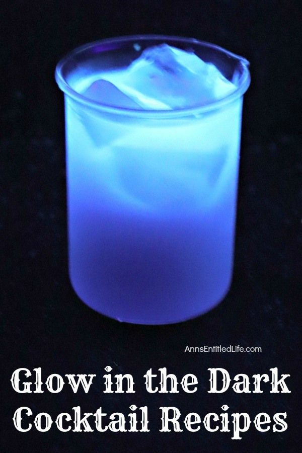 glowing blue drink in a glass