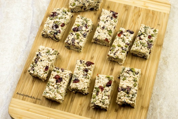 Gluten-Free Autumn Crisp Snack Bars Recipe. These terrific gluten-free autumn crisp snack bars are packed with fall flavors. Easy to make, these delicious treats are crunchy and oh so satisfying. Perfect for on-the-go, lunch boxes, or breakfast, these tasty snack bars are sure to become a family favorite!