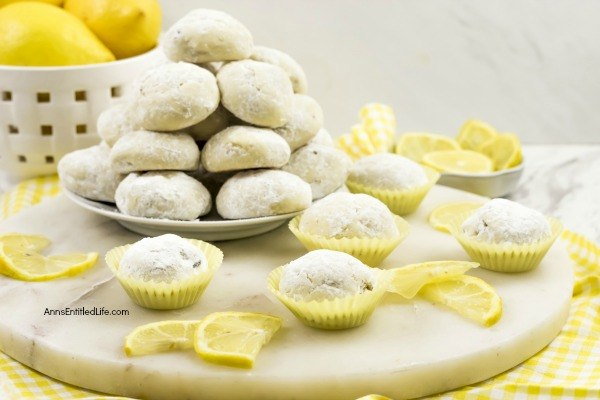 Lemon Snowball Cookie Recipe. The fresh, sweet-tart flavor make these Lemon Snowball Cookies are a change of pace Christmas Cookie. Easy to make, they are a welcome addition to your holiday cookie plate!