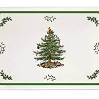 Spode Christmas Tree Melamine Serving Tray with Handles, 19-1/4-Inch