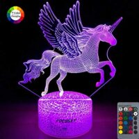 Focusky Unicorn Night Light for Kids,Dimmable LED Nightlight Bedside Lamp,16 Colors+7 Colors Changing,Touch&Remote Control,Best Unicorn Toys Birthday Christmas Gifts for Girls Boys