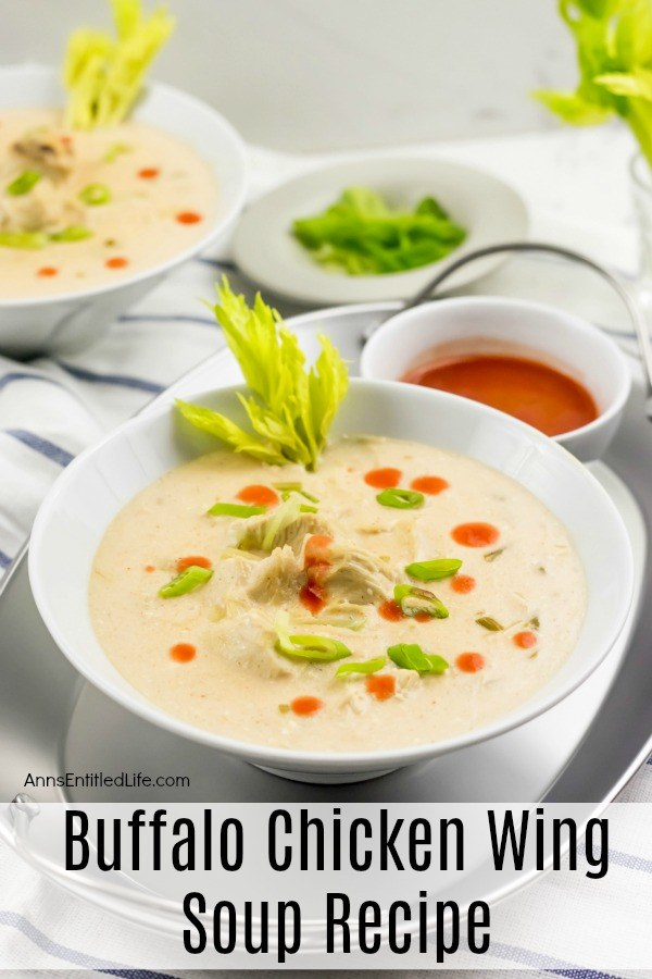 Buffalo Chicken Wing Soup Recipe. Spicy, zesty and totally delicious, enjoy the great taste of Buffalo-style chicken wings without the mess in this delicious Buffalo Chicken Wing Soup Recipe. Easy to make, this Buffalo Chicken Wing Soup recipe also freezes beautifully.