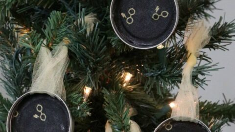 Harry Potter Mason Jar Lid Ornaments