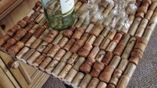 How To Make A Wine Cork Table From Repurposed Corks