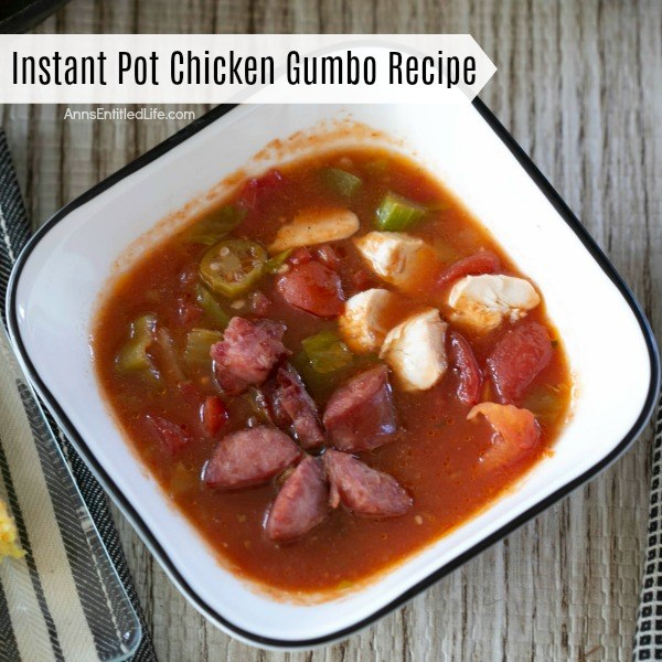 Instant Pot Chicken Gumbo Recipe. This easy to make instant pot chicken gumbo recipe is a flavor explosion on your tongue! Hearty, rich, with a spicy flavor, this combination of chicken, sausage and vegetables is a terrific lunch or dinner your whole family will enjoy!