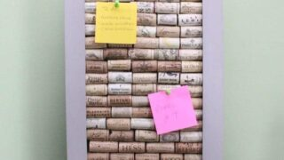 Wine Cork Message Board: A Crafty Bulletin Board Idea