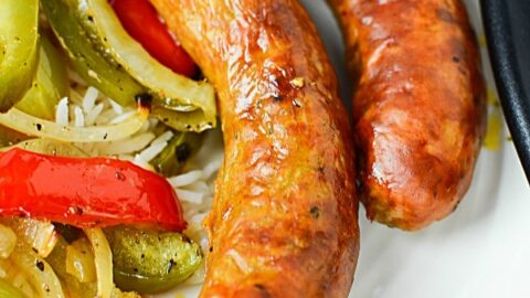 Oven Roasted Spicy Sausage and Vegetables Recipe
