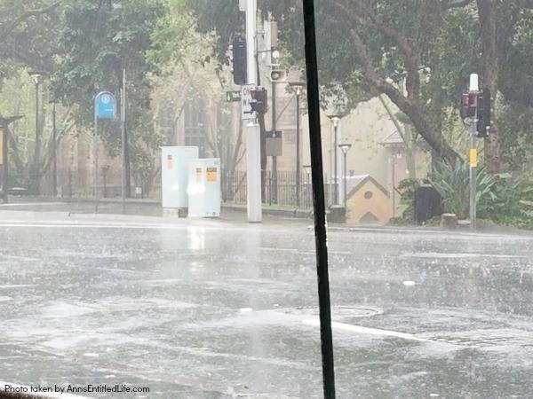 When Not to Go to Australia, by AnnsEntitledLife.com Torrential rains in Sydney Australia
