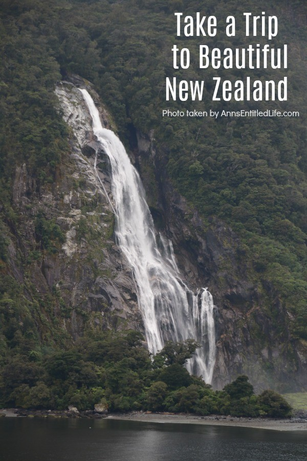 Photo of waterfall in the New Zealand fiords