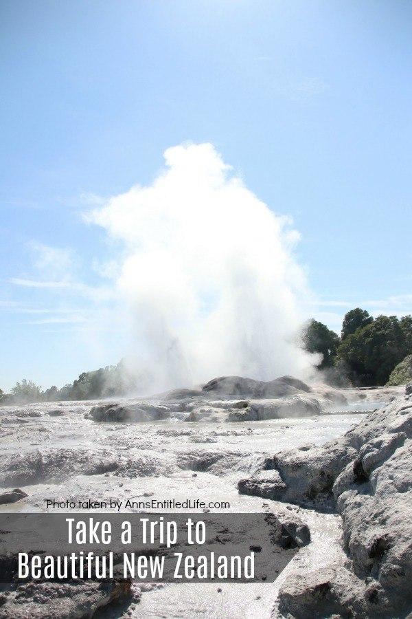 Photo of geyser in New Zealand
