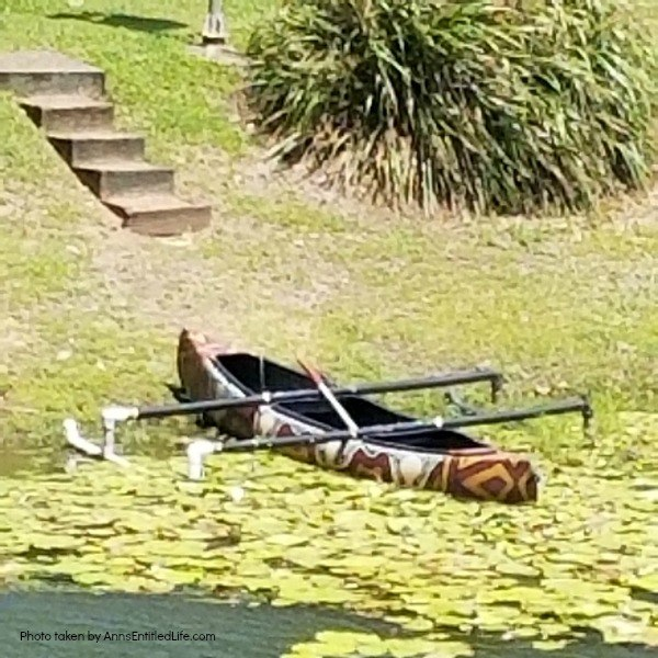 When Not to Go to Australia, by AnnsEntitledLife.com Aboriginal canoe in the water.