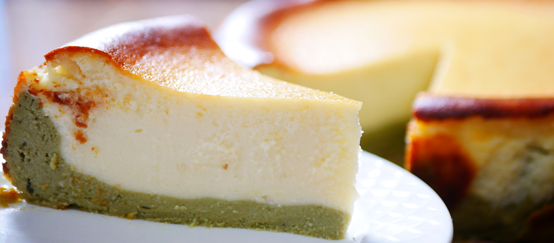 How To Make Matcha Basque Burnt Cheesecake Recipe Ann S Home Cuisine