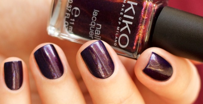 Kiko Milano #497 Pearly Indian Violet nail laquer swatches