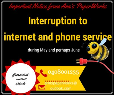 Alternative contact details - Ann's PaperWorks