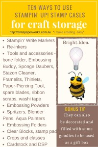 Stamp Cases| Craft Storage by Stampin' Up! | Ann's PaperWorks| Ann Lewis| Stampin' Up! (Aus) online store 24/7