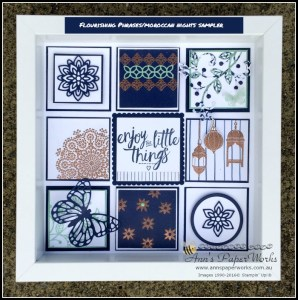 Flourishing Phrases and Moroccan Nights sampler Crafty Paper Bees Crafty Party 2016-17 Stampin' Up! Catalogue Ann's PaperWorks Ann Lewis Stampin' Up! (Aus)| online store 24/7