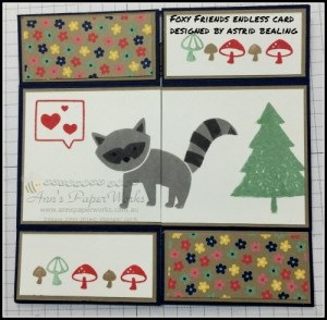Foxy Friends Endless Card Crafty Paper Bees Crafty Party 2016-17 Stampin' Up! Catalogue Ann's PaperWorks Ann Lewis Stampin' Up! (Aus)  online store 24/7