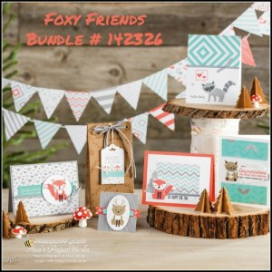 Foxy Friends Stamp Set and Bundle 2016-17 Stampin' Up! Catalogue! Ann's PaperWorks Ann Lewis Stampin' Up! (Aus)| online store 24/7