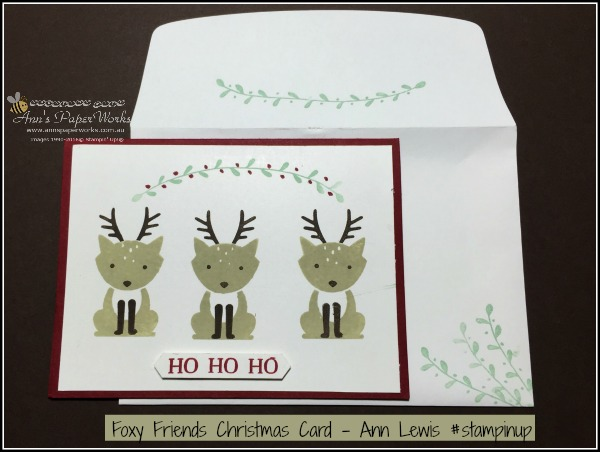 Foxy Friends Christmas, 2016-17 Stampin' Up! Catalogue  Ann's PaperWorks Ann Lewis Stampin' Up! (Aus)| online store 24/7