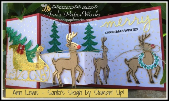 Santa's Sleigh Z Fold Card, Stampin' Up! Ann's PaperWorks, Ann Lewis, Stampin' Up! (Aus)|Stampin' Up! 2016 Holiday Catalogue| online store 24/7