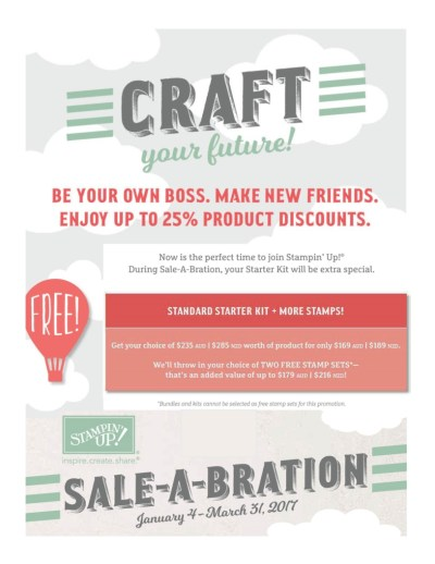 Sale-a-Bration, Become a Stampin' Up! demonstrator, Ann's PaperWorks| Ann Lewis| Stampin' Up! (Aus) available from my online store 24/7