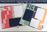 Carried Away DSP, Lift Me Up bundle, Stampin' Up! Ann's PaperWorks Ann Lewis Stampin' Up! (Aus)|Scrapbooking/Project Life class