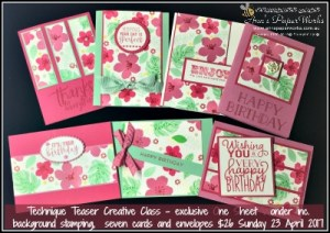 Card Class, Blooms and Wishes Stamp Set, Stampin' Up! Ann's PaperWorks, Ann Lewis, Stampin' Up! (Aus)|Stampin' Up! 2017 Occasions Catalogue| online store 24/7