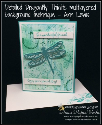 Collage Stamping Technique, Dragonfly Dreams Bundle, Stampin' Up! Ann's PaperWorks, Ann Lewis, Stampin' Up! (Aus)|Stampin' Up! 2017 Occasions Catalogue| online store 24/7