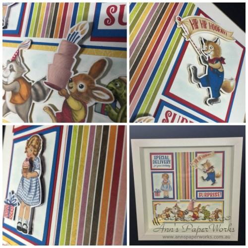 Framed Stamped Sampler  Sneak Peek Birthday Memories DSP 2017-18 Stampin' Up! Catalogue   Ann's PaperWorks  Ann Lewis  Stampin' Up! (Aus) online store 24/7