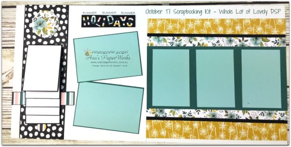 October Scrapbooking Kit, Scrapbooking Class Brisbane, Whole Lot of Lovely DSP, Waterfall layout, Stampin' Up! Ann's PaperWorks Ann Lewis Stampin' Up! (Aus) Scrapbooking/Project Life class,