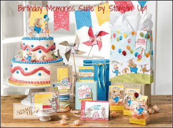 Birthday Memories Suite, Stampin' Up! 2017-18 Catalogue Ann's PaperWorks  Ann Lewis  Stampin' Up! (Aus) online store 24/7