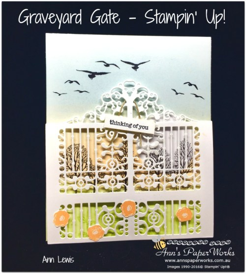 Graveyard Gate by Stampin' Up!, Graveyard Gate Thinlits, Stampin' Up! 2017 Christmas Holiday Catalogue Ann's PaperWorks| Ann Lewis| Stampin' Up! (Aus) online store 24/7