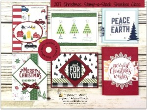 christmas stamp a stack shoebox creative class anns paperworks ann lewis - Shoebox Christmas Cards