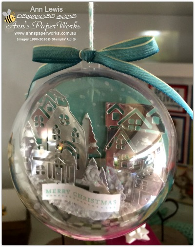 Handmade Christmas Ornament, Hearts Come Home Stamp Set and Thinlits, Stampin' Up! 2017 Christmas Holiday Catalogue Ann's PaperWorks  Ann Lewis  Stampin' Up! (Aus) online store 24/7, http://bit.ly/2A2JVDr