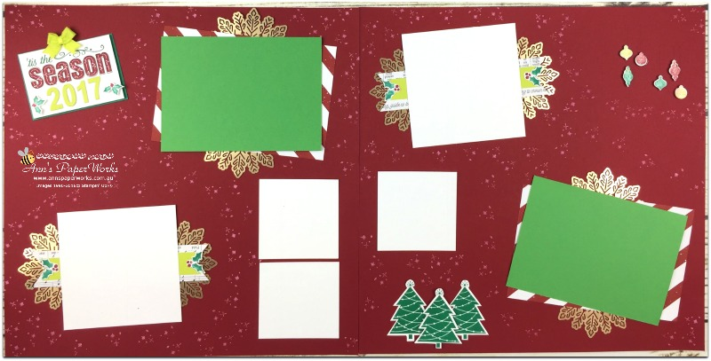 January Scrapbooking Kit, Be Merry DSP, Foil Snowflakes, Stampin' Up! Ann's PaperWorks Ann Lewis Stampin' Up! (Aus) Scrapbooking/Project Life class