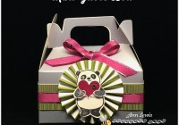 Party Panda Silver Mini Gable Box with Rosette,
