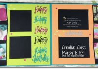 Picture Perfect Party Scrapbooking Layout, class kit, double page layout, four photo layout, birthday theme, Happy Birthday Thinlits, Mixed Media included, Stampin' Up! Ann's PaperWorks Ann Lewis Stampin' Up! (Aus)|Scrapbooking/Project Life class, CASE Dori Thompson Schneider