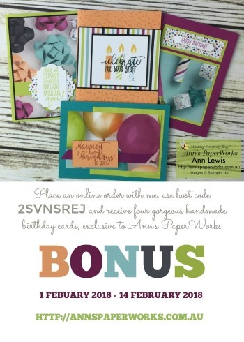 Picture Perfect Designer Series Paper, bonus card offer, Stampin' Up! Ann's PaperWorks, Ann Lewis, Stampin' Up! (Aus) Stampin' Up! 2018 Occasions Catalogue  online store 24/7