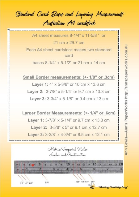 Standard card sizes and measurement guide for a4 handmade cards standard card sizes and measurement guide cardmaking basics inch and centimetre card measurements m4hsunfo