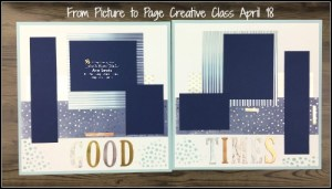 April '18 Class Kit, Springtime Foils Specialty DSP, Large Letters Framelits Dies, double page scrapbooking layout, Sponge brayer technique, ink pad to paper technique, double page scrapbooking layout, Stampin' Up! Ann's PaperWorks Ann Lewis Stampin' Up! (Aus)|Scrapbooking/Pocket Pages class, Stampin' Up! Ann's PaperWorks Ann Lewis Stampin' Up! (Aus)|Scrapbooking/Project Life class, online store