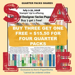Designer Series Paper Sale, Stampin' Up! 2018-19 Catalogue Ann's PaperWorks| Ann Lewis| Stampin' Up! (Aus) online store 24/7