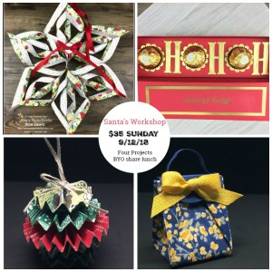 Christmas ornament, paper ornament, chocolate box, ho ho ho chocolate box, Santa's workshop projects, annspaperworks, Stampin' Up!