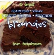 196. So Simple: PB Zucchini Brownies [Grain Free, Vegan]