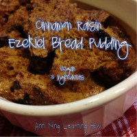 316.  Cinnamon Raisin Ezekiel Bread Pudding (Vegan)