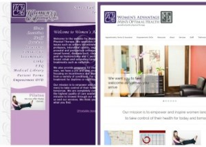 Womens-Advantage-old & new websites