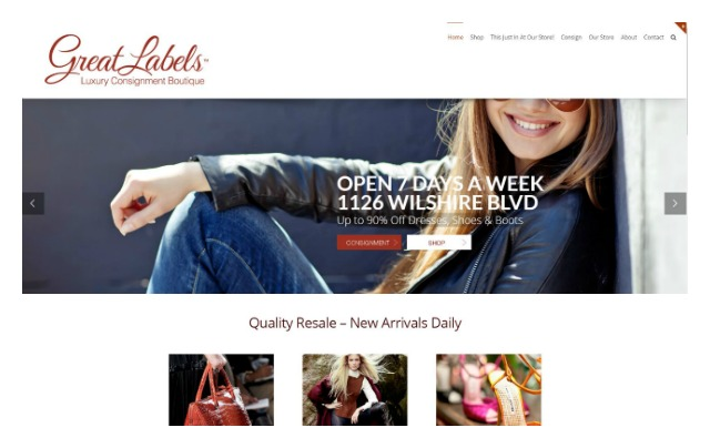 Great Labels website homepage